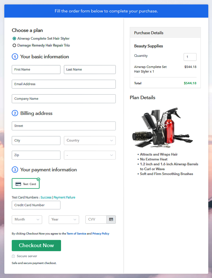 Sell Beauty Supplies Online Multi Checkout