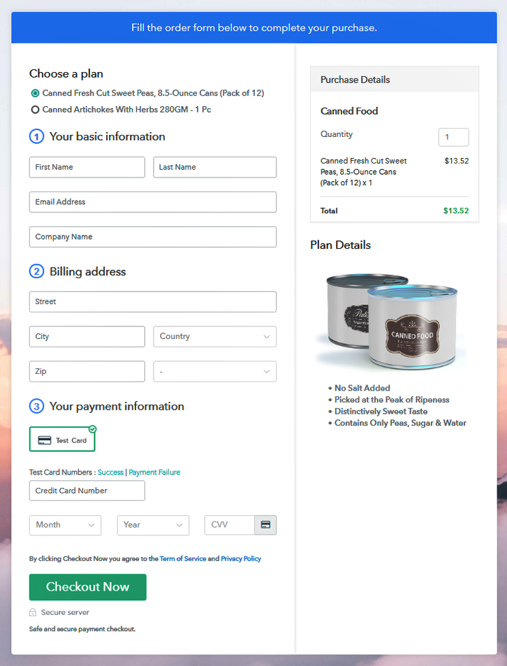 Sell Canned Food Online Multi Checkout