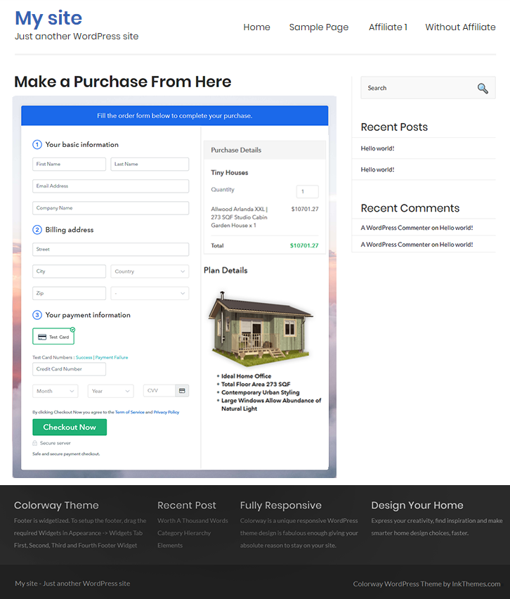 Sell Tiny Houses Online W