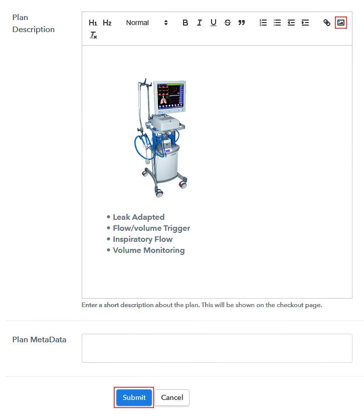 Add Image & Description to Sell Ventilators Online