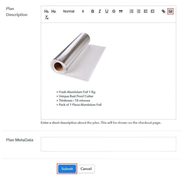 Add Image & Description to Sell Aluminium Foil Online