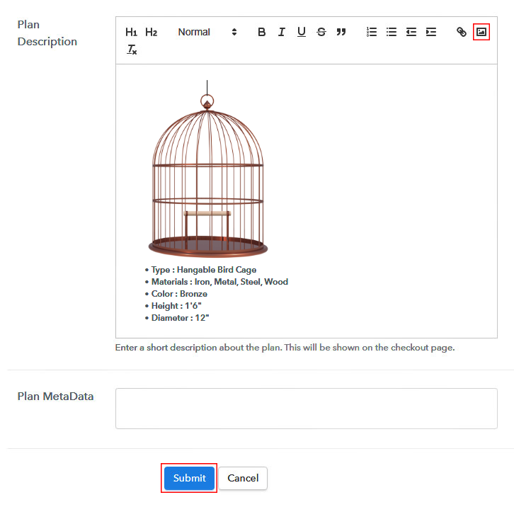 Add Image & Description to Sell Animal Cages Online