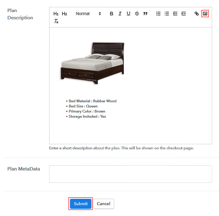 Add Image & Description to Sell Beds Online