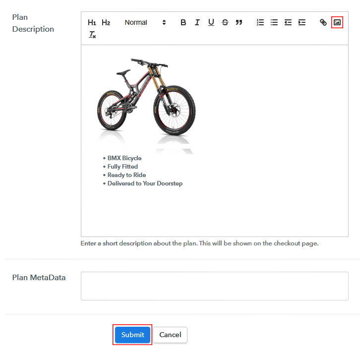 Add Image & Description to Sell Bicycles Online