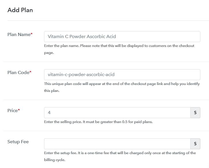 Add Plan to Sell Ascorbic Acid Online