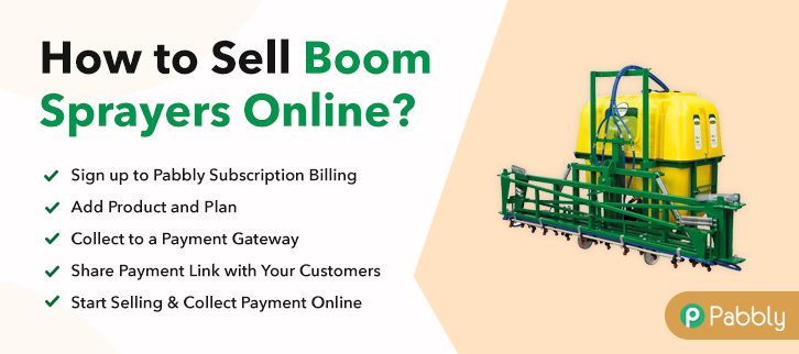 How to Sell Boom Sprayers Online