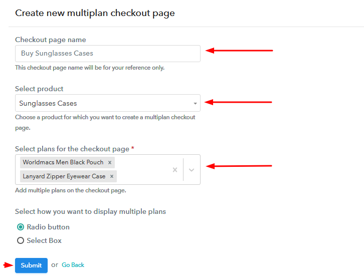 Add Plans to Sell Multiple Sunglasses Cases from Single Checkout Page