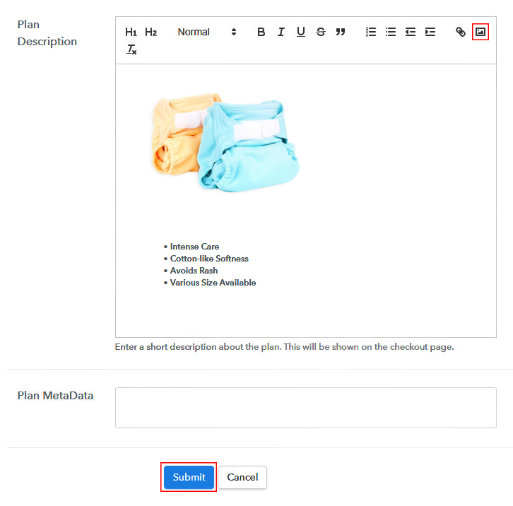 Add Image & Description to Sell Baby DiapersOnline