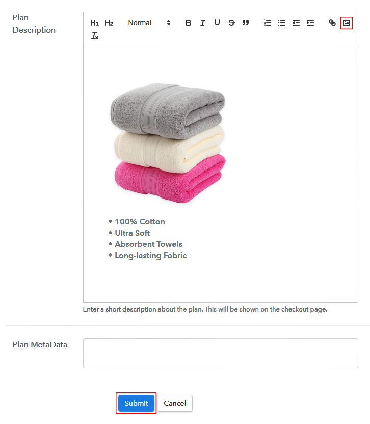 Add Image & Description to Sell Towels Online