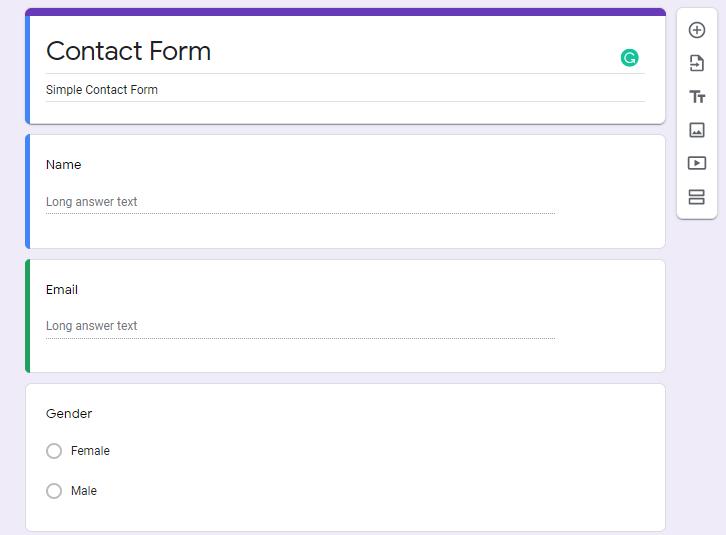 First Build A Google Form
