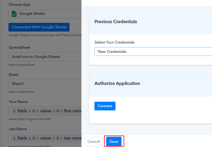 Integrate with Google Sheets