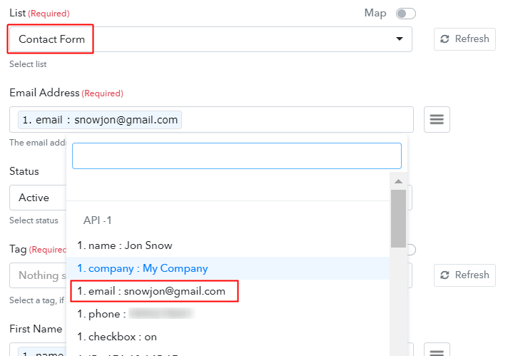 Add Field Data in Pabbly Connect