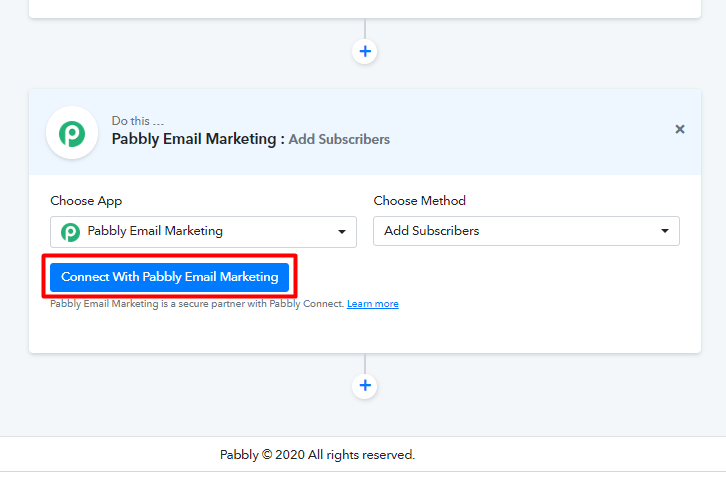 Integrate google sheets to pabbly email marketing clcik on connect
