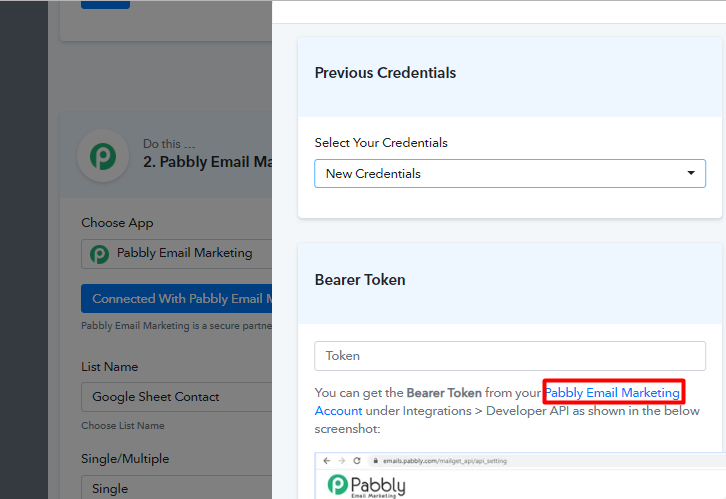 integrate pabbly connect to pabbly email marketing