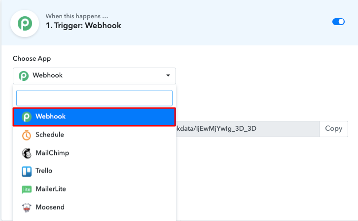 Select Webhook