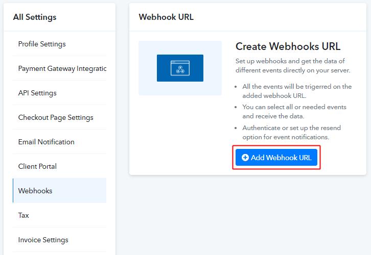 Add Webhook URL