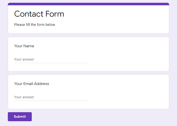Create New Google Forms - Integrate Google Forms