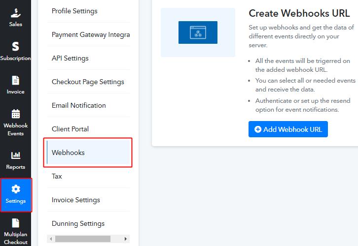 PSB Settings Webhooks