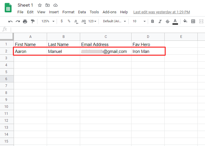 Check the Google Sheet for Facebook Lead Ads Integration