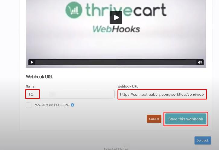 ThriveCart Create Webhook