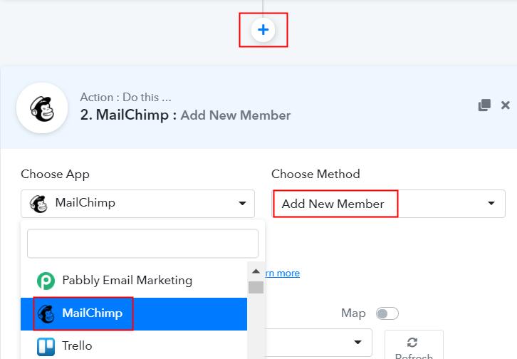 Select MailChimp