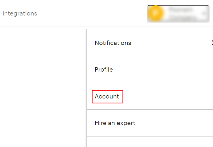 Click on MailChimp Account Settings