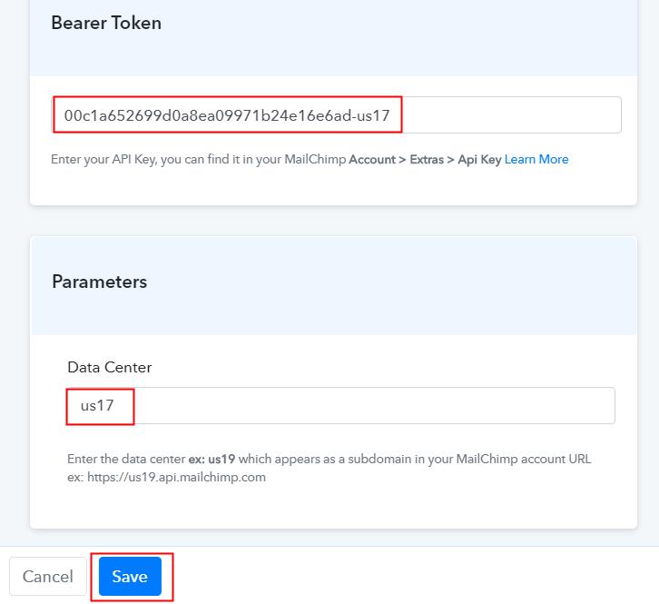 Fill API Key