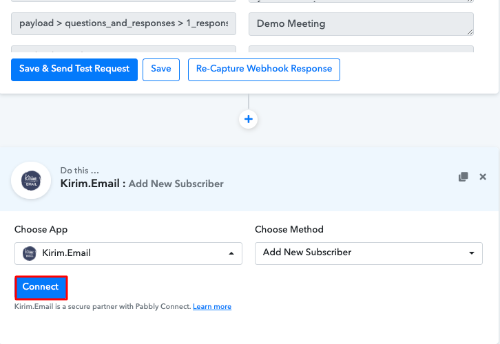 Integrate Calendly with Kirim.Email