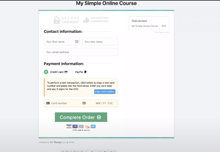 Fill-up the Form