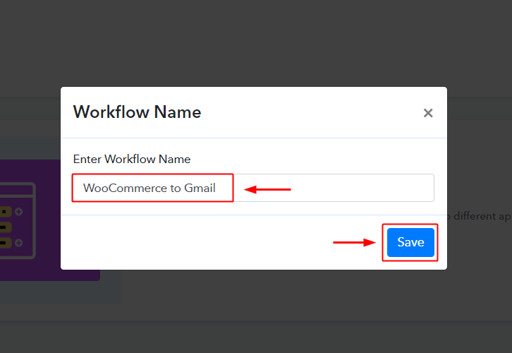 WooCommerce to Gmail Workflow