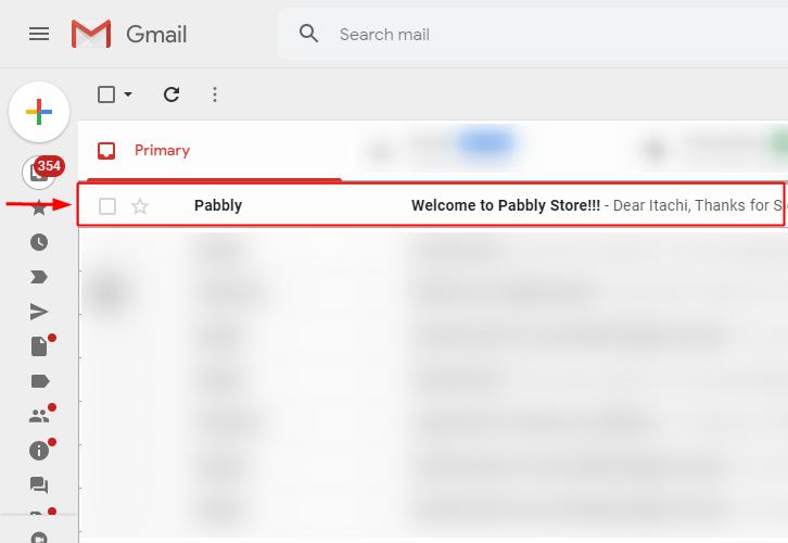 Action Response on Customer's Gmail