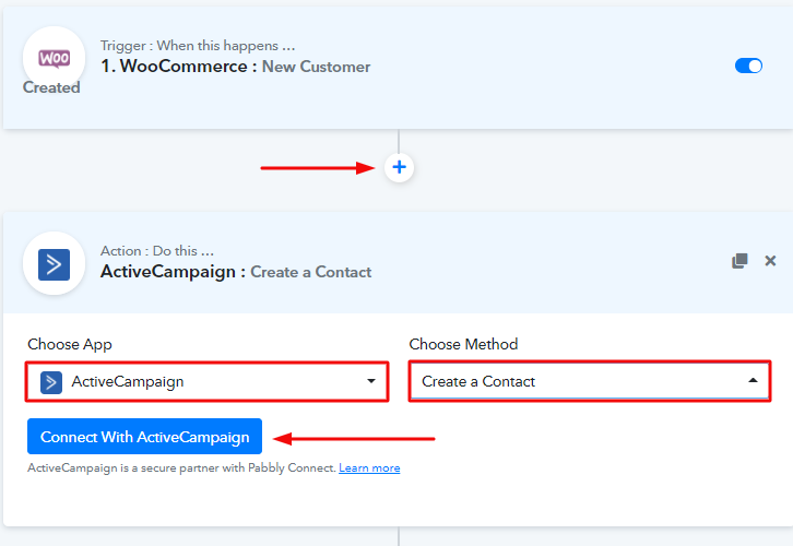 Select Application to Integrate as ActiveCampaign
