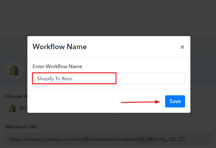 Name the Workflow to Add New Shopify Orders to Xero
