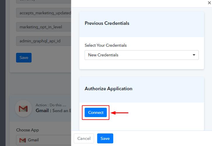 Authorize Gmail