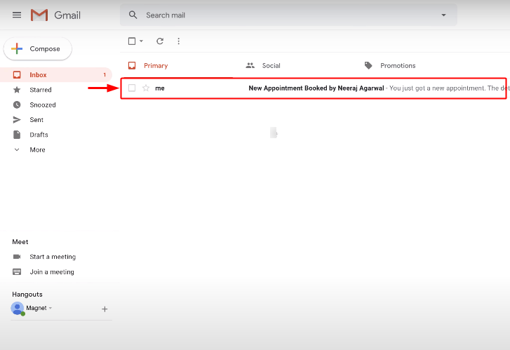 Check Email Action Response