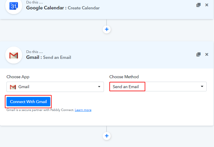 Connect with Gmail