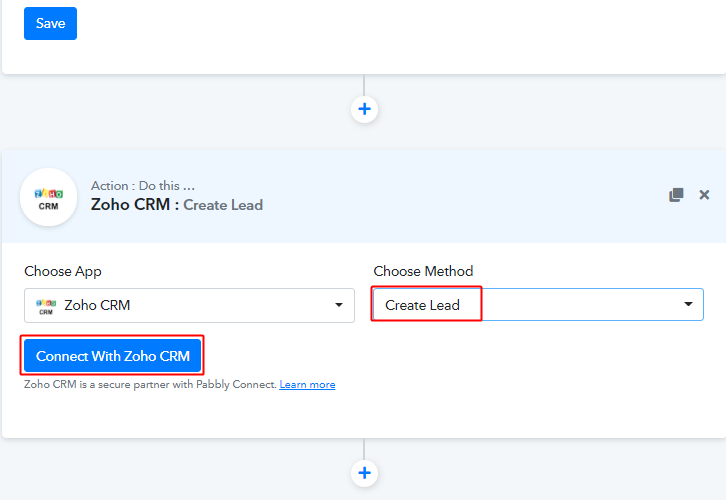 Connect with Zoho CRM