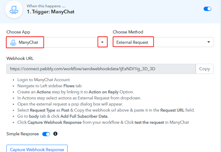 Integrate ManyChat Integrate ManyChat with Slack
