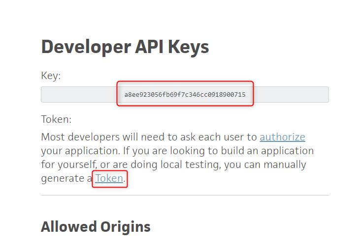 Copy API Key & Bearer Token - Trello