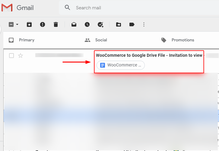 Google Drive File Sent