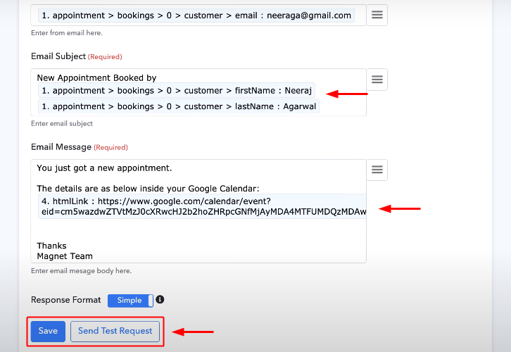 Save Gmail Action