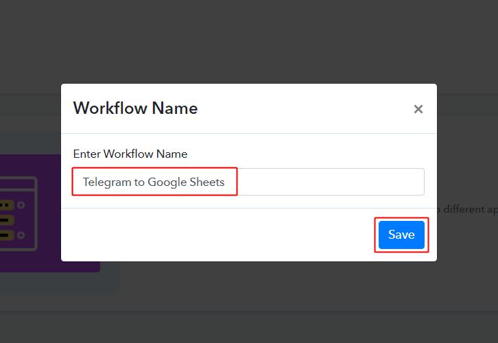 Telegram to Google Sheets Workflow