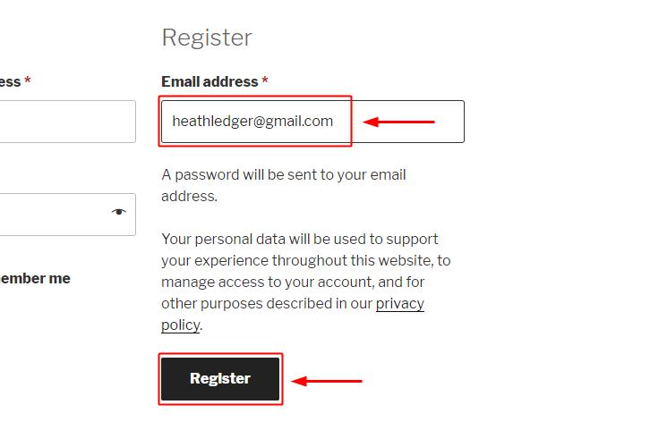 WooCommerce Registration