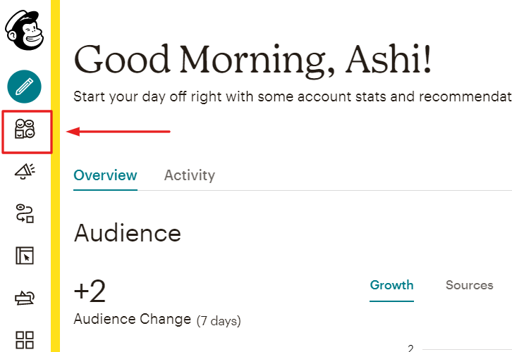 Go to MailChimp Audience