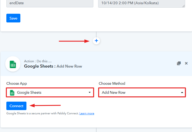 Select Application you Want to Integrate to Add Google Sheets Rows for New Chargebee Subscriptions
