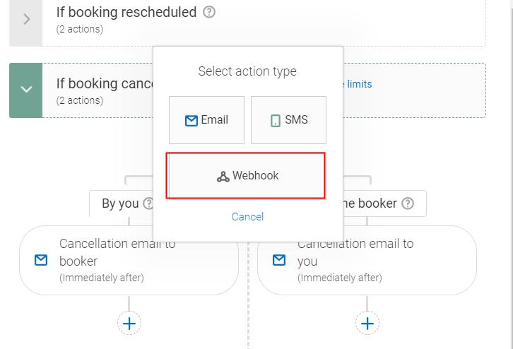 "Select the ""Webhook"" Option"