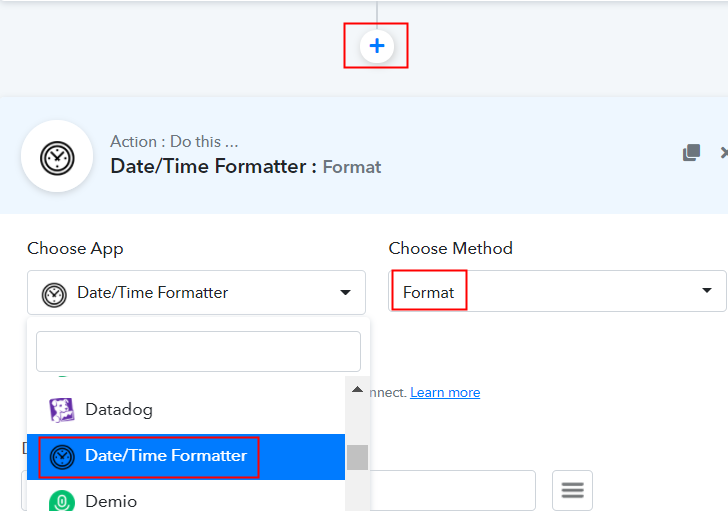 Select Date/Time Formatter