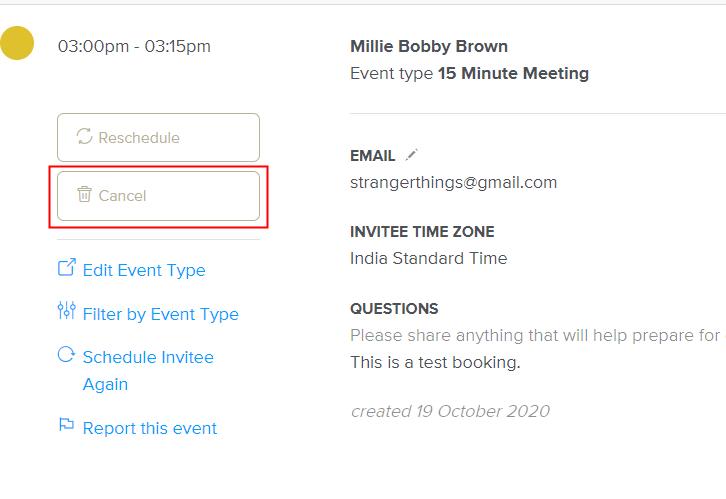 Cancel an Event