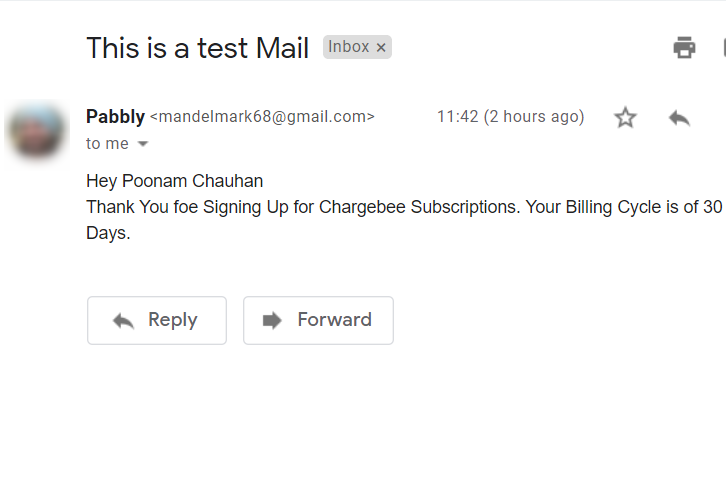 Check Response in Gmail