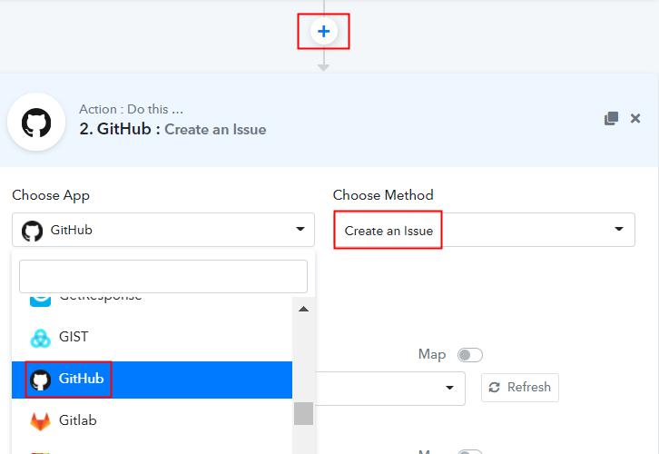 Select GitHub